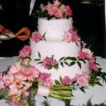 3 Tier CakeOnCake PinkFlowers