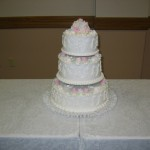 3 Tier Traditional Scroll With Mound of Pastels