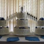 Bridge Cake With Royal Blue